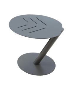 Unique shape and style is the embodiment of this side table. Perfect addition to any setting