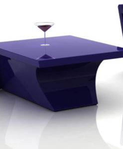 Modern Plastic Resin LED Side Table