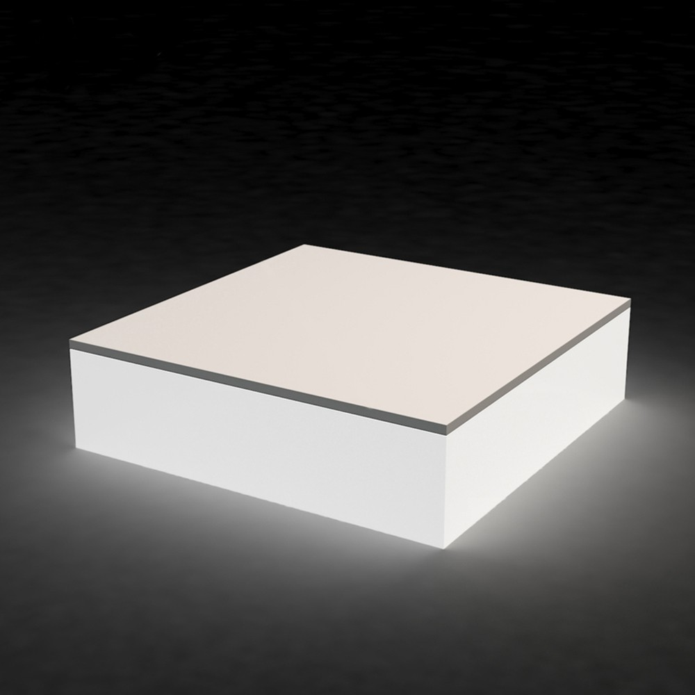Modern Illuminating Led Lights Square Coffee Table Outdoor