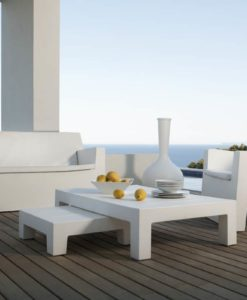 vondom JUT outdoor coffee table, is the one, if you looking for style. Its clean its modern its the one you need. Indoor or out its the perfect centerpiece.
