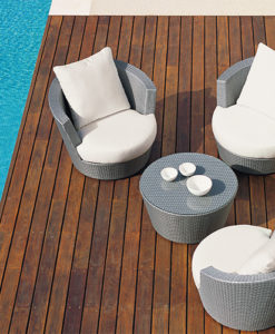 The accurate circle geometry is the most inviting shape for seating furniture.The curved shapes and thick, generous cushions in this swivel club chairadd a touch of modern glamor. To aid in the comfort and, modern and perpetually valid design.The weave for our furniture is made from high-quality polyethylene fibers.