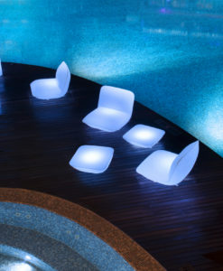 Modern Pillow Illuminating LED Club Chair