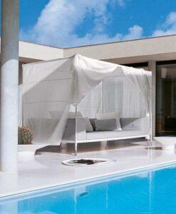 Modern Water Repellent Aluminum Frame 2 Seater Sofa