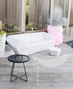Modern LED Light Resin 2 Seater Sofa