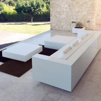 Contemporary Flat Resin Plastic 3 Seater Sofa
