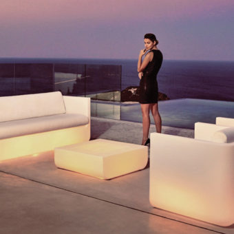 Modern LED Lighting Vondom 3 Seater Sofa