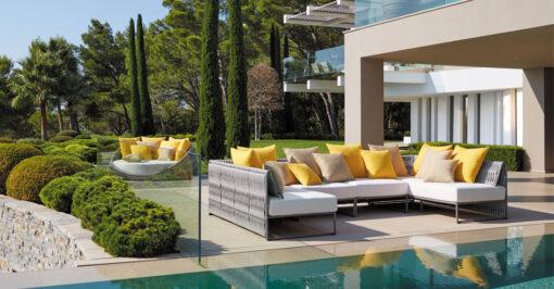 Kalife modern outdoor sectional modular sofa Southampton ny