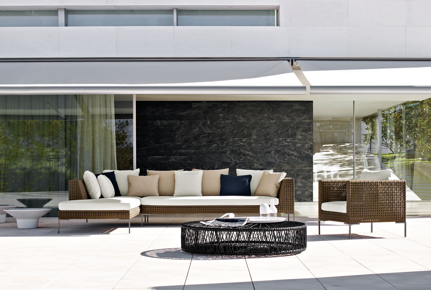 Peachy Modern Water Repellent Aluminum Sectional Sofa Contract Ibusinesslaw Wood Chair Design Ideas Ibusinesslaworg