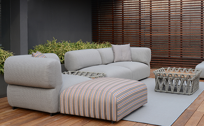Modern steel water repellent modular sofa contract hotel for B b italia outdoor
