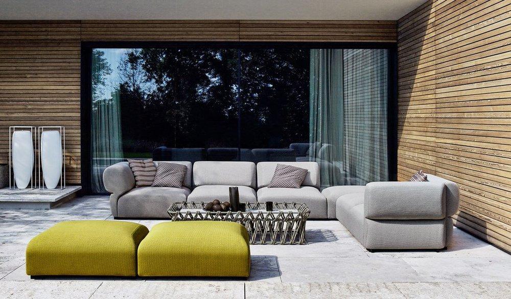 3400 2602b B Italia Erfly Fat Outdoor Modular Sofa
