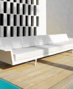 Modern Vondom Aluminum Flat Modular Sofa