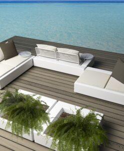 Modern Flat Resin Modular Sofa