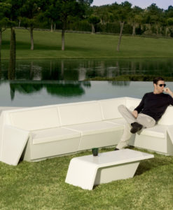 Modern Flat Plastic Resin Modular Sofa