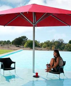 Ledge Pool Umbrella beach entry. Enjoy the shade in the pool with beach shelf ledge lounge by anchoring into the gunite floor. Just add a chaise & cocktails!!