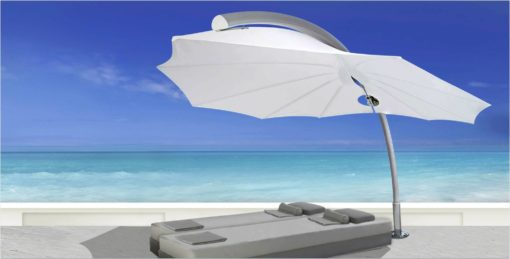 bloom modern cantilever design umbrella 360 rotation 316 marine grade