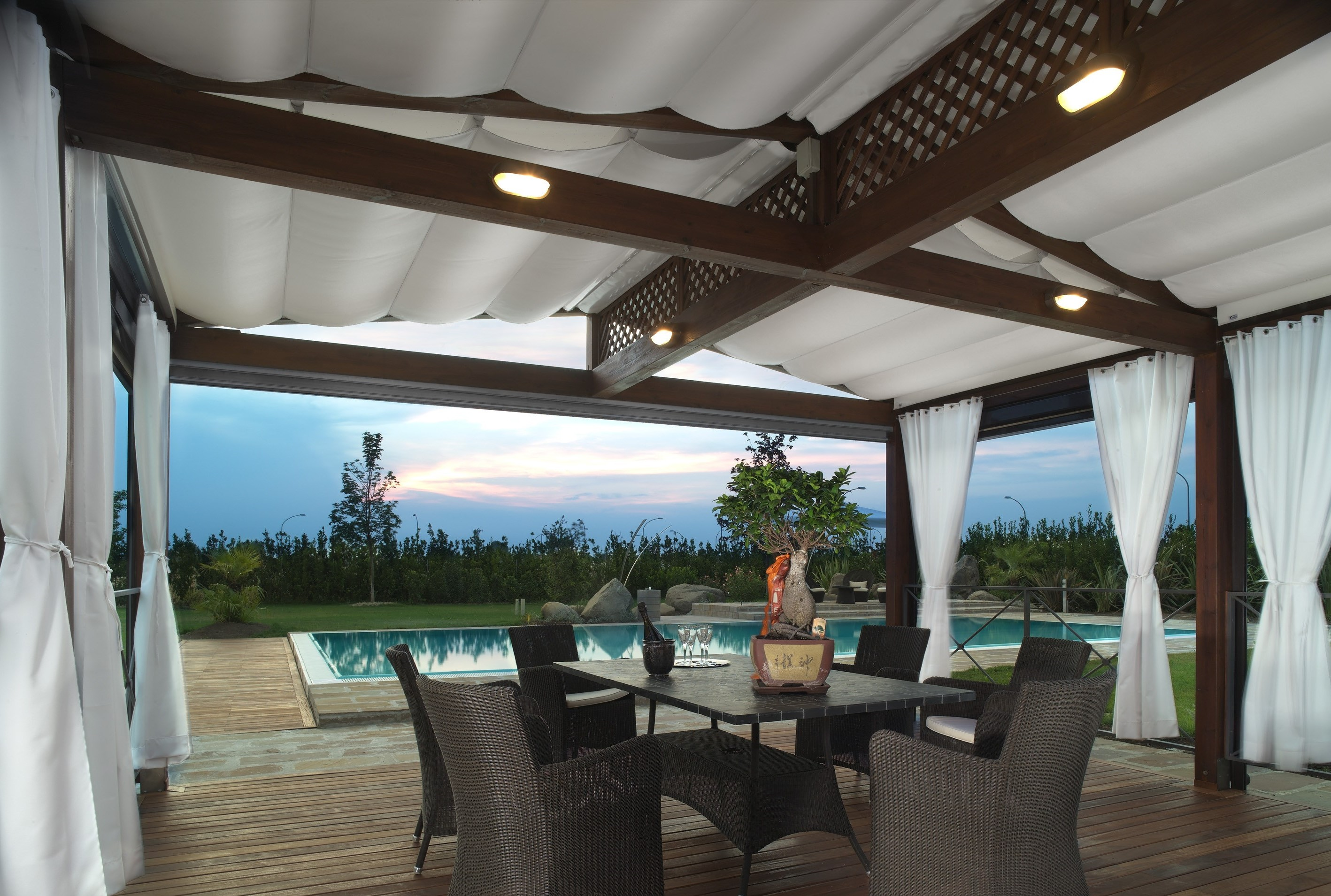 Pergola Fabric Roof Retractable Couture Outdoor