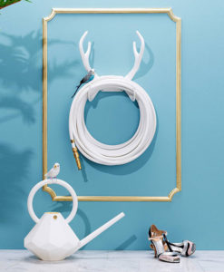 Color Garden Hose White Antler Hook