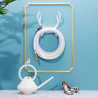 Color Garden Hose White Antler Hook