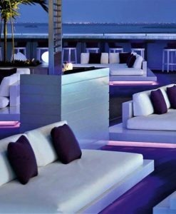 Air 2 & 3 Platform Sofa LED lights by Rausch