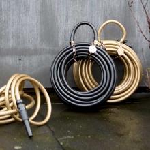 black gold hose like purse