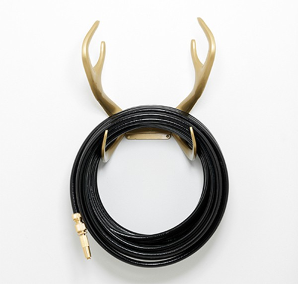 Superieur Color Garden Hose Gold U0026 Black Antler Hook