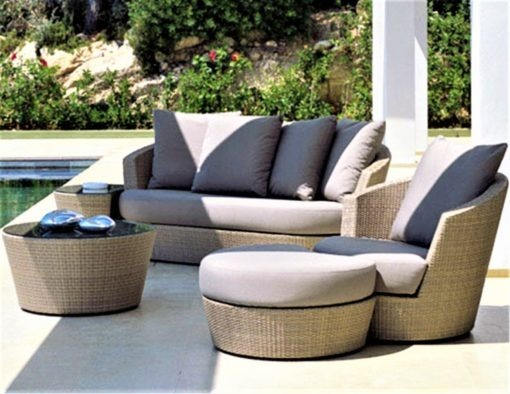 eden roc rausch sofa wicker rope luxury european design hotel contract ship yacht furniture natural