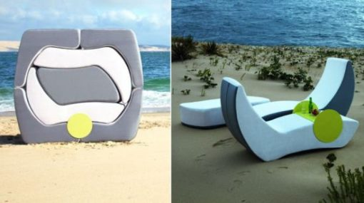 Curves Puzzle Modular Multi-function Stacking Chaise Lounger Sidetable