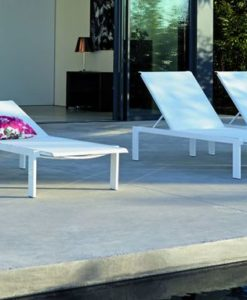 Stackable Chaise Lounger With irresistible lines and flat attire. lounging on this will be an amazing experience.