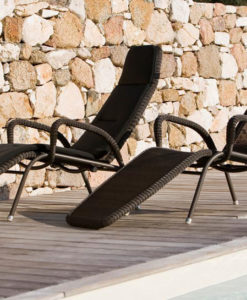 Wicker Chaise Lounger.
