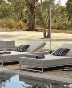 Modern Adjustable Back Chaise Lounger