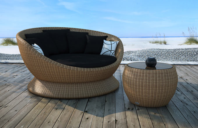 Turnberry Swivel Daybed Couture Outdoor