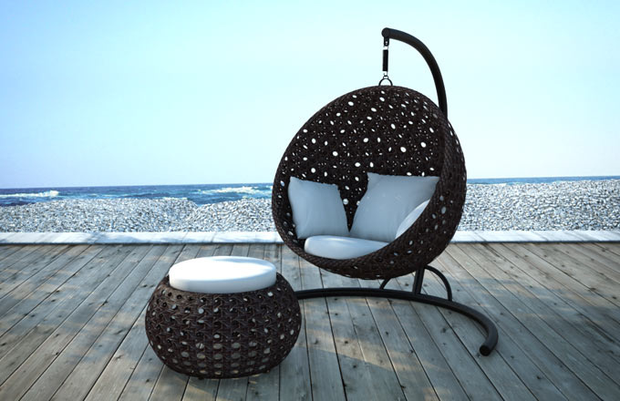 Holly Round Swing Chair Couture Outdoor