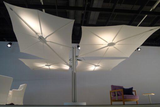 Hudson Luxury Quatro Umbrella Contract Resort Wind Resistance Outdoor Patio Pool Hign end Design Residential Caribbean