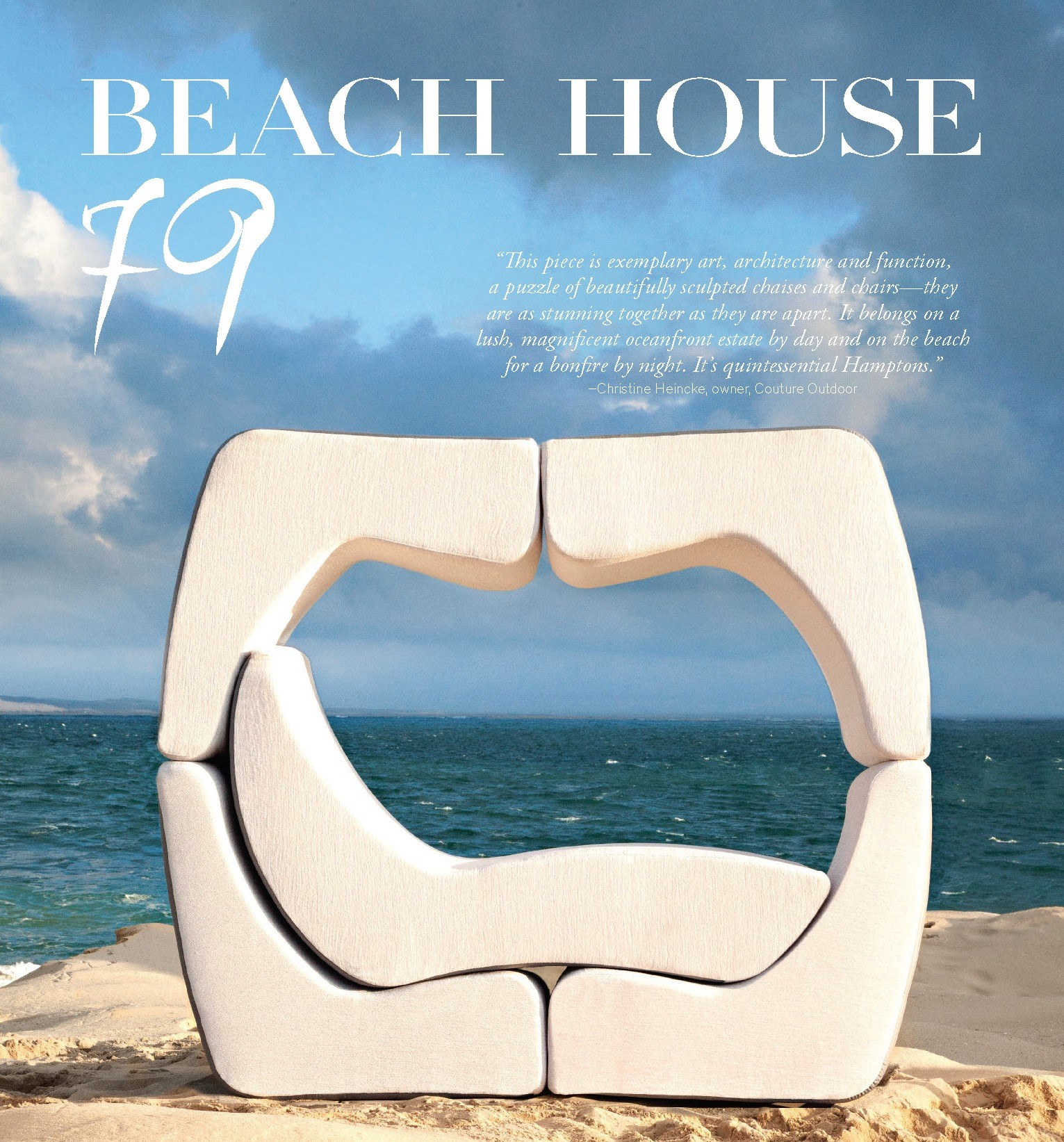 Beach Magazine Editorial Luxury Outdoor Furniture Design