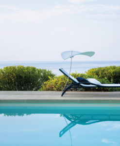 High End european design Grace premiere luxury modern chaise sun lounger batyline ferrari mesh white bblack color designer hotel contract boutique design award ego new york hamptons miami california texas paris italy outdoor furniture modern white blue pool side luxury outdoor furniture
