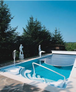 Automatic Bench System Pool Cover Fiberglass Existing Pool