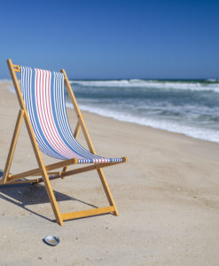 wood beach chair handmade in France