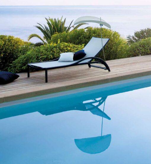 custom european luxury modern chaise lounger mesh white black designer hotel contract furniture