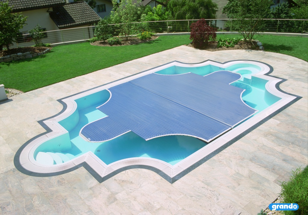 Automatic Floor System Free Form Pool Cover Couture Outdoor