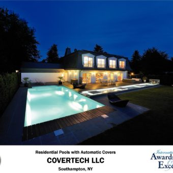 award winning automatic pool cover by covertech