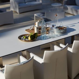 Extendable stainless steel dining table not just beautiful to look at but also great for accommodating large amount of people, and unexpected guests.