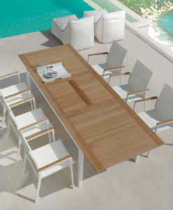 Athena Teak Extendable Dining Table