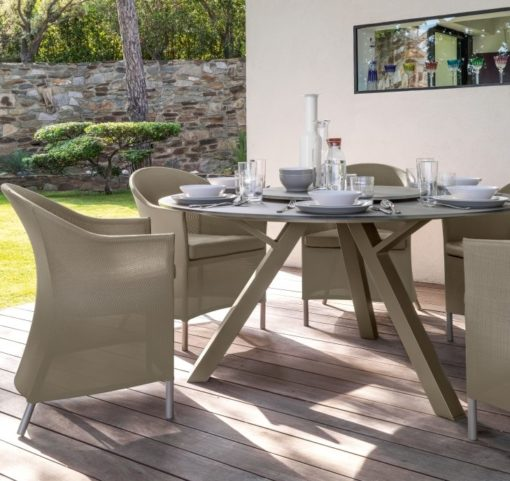 Bianca Round Glass Dining Table
