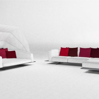 Zambrose Collection Black White Daybed