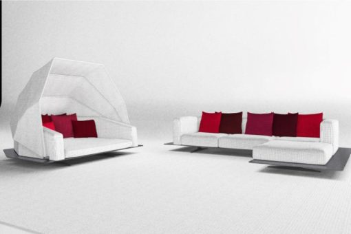 Ambrose Collection Black White Daybed