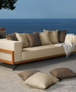 Apropos Modern Teak & Aluminum 3 Seater Sofa