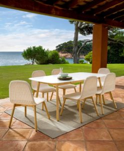 Aruba Contemporary Wicker Dining Collection
