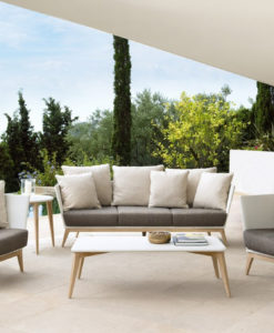 Aries contemporary wicker 2-3 seater sofa
