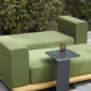 palo teak modular chaise lounger