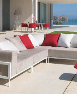 Modern Modular Aluminum Sofa